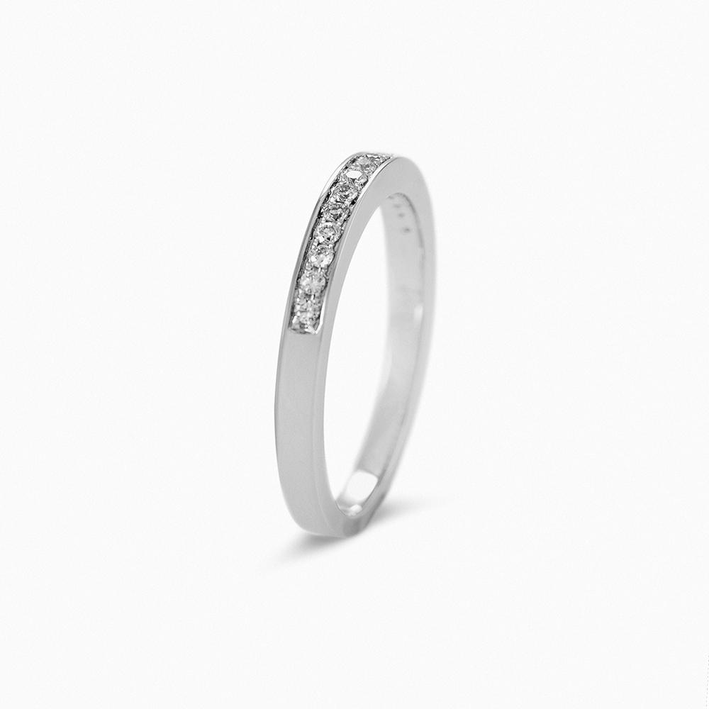 8ed56195a6a7 Alianza ORO Blanco 1ª LEY. 15 diamantes-brillantes
